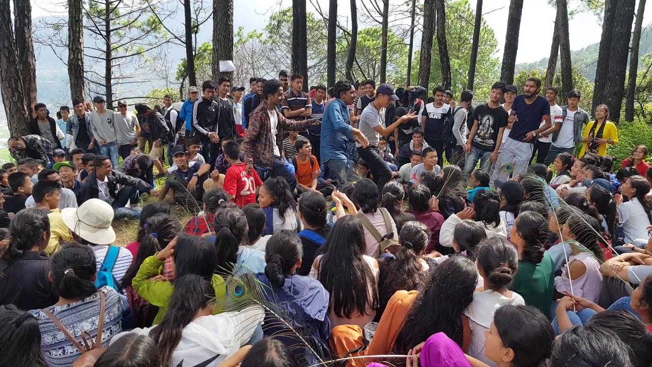 Download Students of Samata dancing at hiking