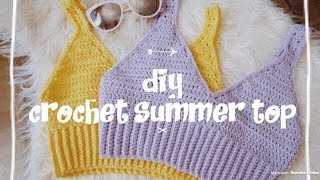 Crochet Summer Crop Top Tutorial