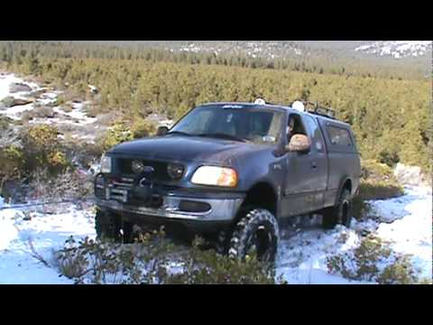 Lifted F150 Snow Winch Recovery Youtube