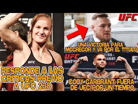 Valentina Shevchenko RESPONDE a las CRITICAS antes de UFC 238, Conor McGregor   UFC en ESPAÑOL