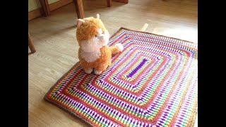 Полосатый коврик крючком/Striped rug crochet