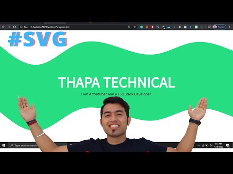 Create Custom/Curved Background Shape/Div Using SVG In Hindi 2020