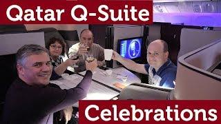 Qatar NEW Business Class: Q-Suite Celebrations!!