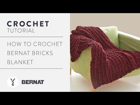 How to Crochet Bernat Bricks Blanket