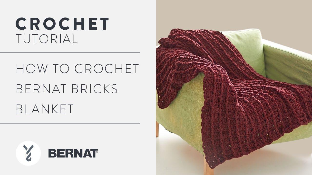 How to Crochet Bernat Bricks Blanket - YouTube