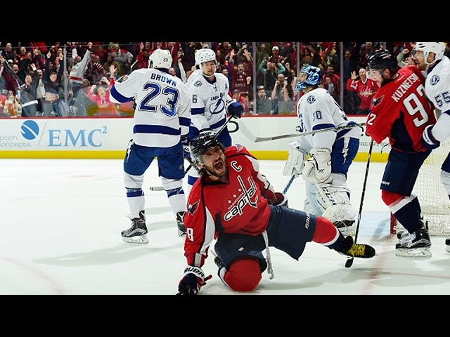 Ovechkin goes to the curl and drag for beauty