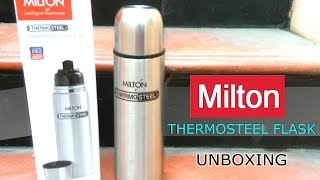 Milton Thermosteel 500ml flask unboxing and overview