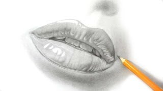 How I Draw Lips - Realistic Pencil Drawing
