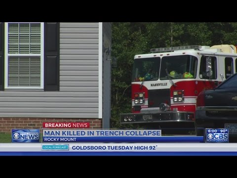 Man dies in Edgecombe County trench collapse