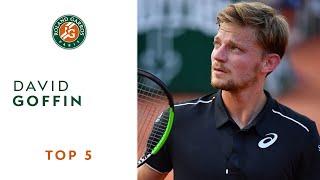 David Goffin - TOP 5 | Roland Garros 2018