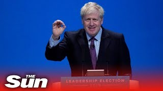 Boris Johnson speaks at his first public hustings as he competes to became the next PM