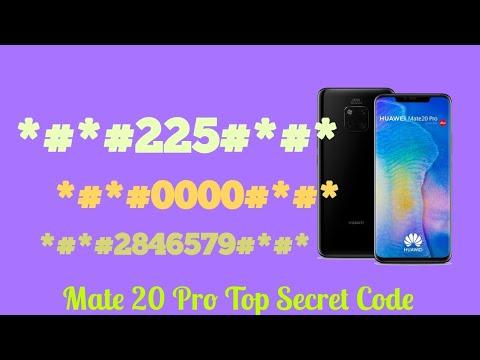 CODES HUAWEI Mate 20 Pro Mate 20  - Secret / Hidden Mode -Gsm Guide