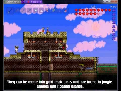Terraria Item Gold Bricks Youtube
