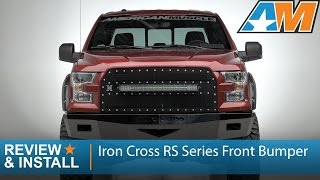 2015-2016 F-150 Iron Cross RS Series Front Bumper Review & Install
