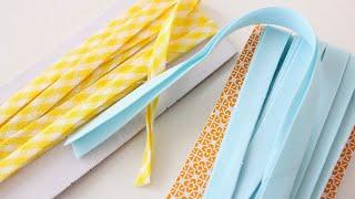 How to make Bias Tape: single-fold and double-fold