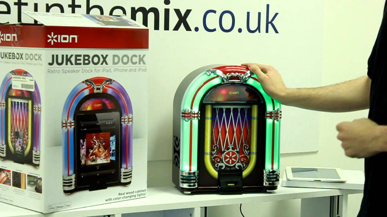 Ion Jukebox Dock Retro Speaker Dock for iPad, iPhone and iPod from Get in  the Mix
