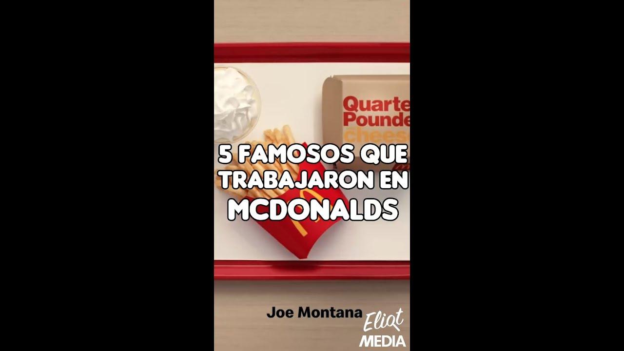 5 FAMOSOS QUE TRABAJARON EN MCDONALD'S #Shorts