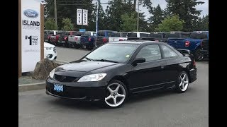 2005 Honda Civic Reverb W/ A/C, Spoiler, AUX Review| Island Ford