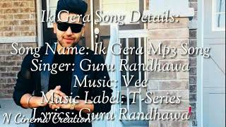 ik-gera-mp3-song-punjabi-guru-randhawa-2019