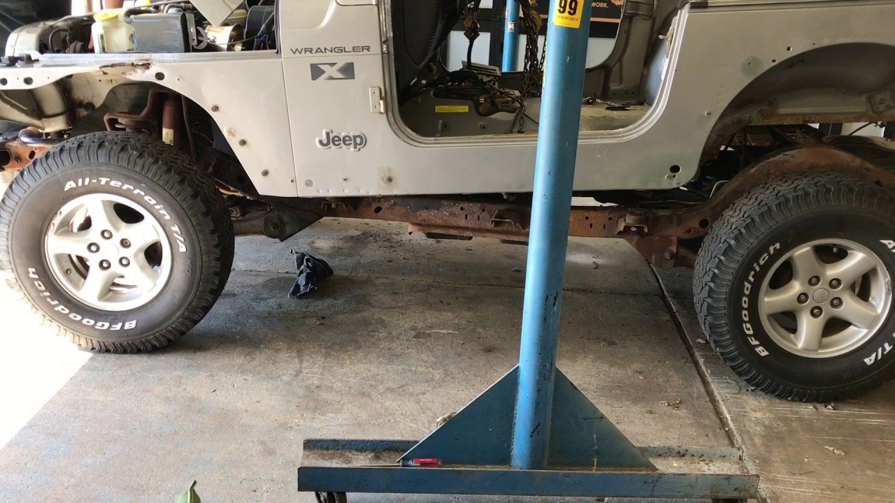 hight resolution of project tj body removal 2002 jeep wrangler x tj