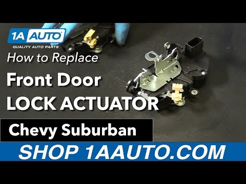 How to Replace Install Front Door Lock Actuator 07-09 Chevy Suburban