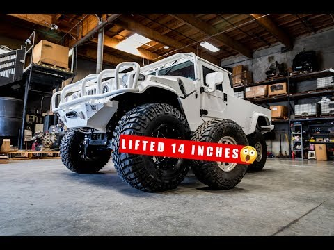"""H1 HUMMER Lifted 14"""" INCHES!!!!"""