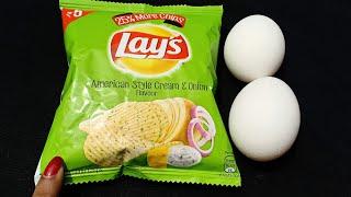Breakfast Recipe | New Snacks Recipe |1Minutes Lays Egg Omelette | Lunch Box Recipe | Easy Breakfast