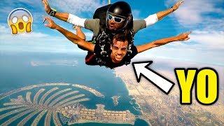 SALTÉ EN PARACAIDAS EN DUBAI!! ***extremo***