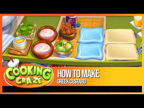 Cooking Craze - How to Make Greek Custard in Athens - Free Mobile Cooking Game