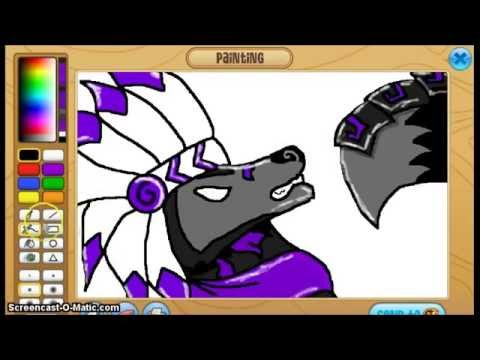 how to draw an arctic wolf on animal jam