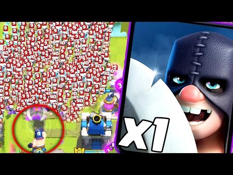 1 ПАЛАЧ против  200+ СКЕЛЕТИКОВ! Clash Royale
