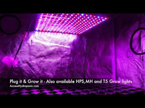 & How to Assemble our Grow Tent and LED Grow Light Panel - YouTube