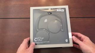 Video AKG Bluetooth Wireless Headphones C50BT Unboxing download MP3, 3GP, MP4, WEBM, AVI, FLV Juli 2018