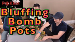 Poker Time: Turning Top Pair into a Bomb Pot Bluff (Sound is Fixed)