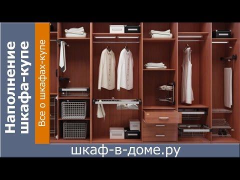 гардеробные шкафы купе полки