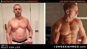 Body Transformation: Before/After using the 12 WEEK SHRED PROGRAM