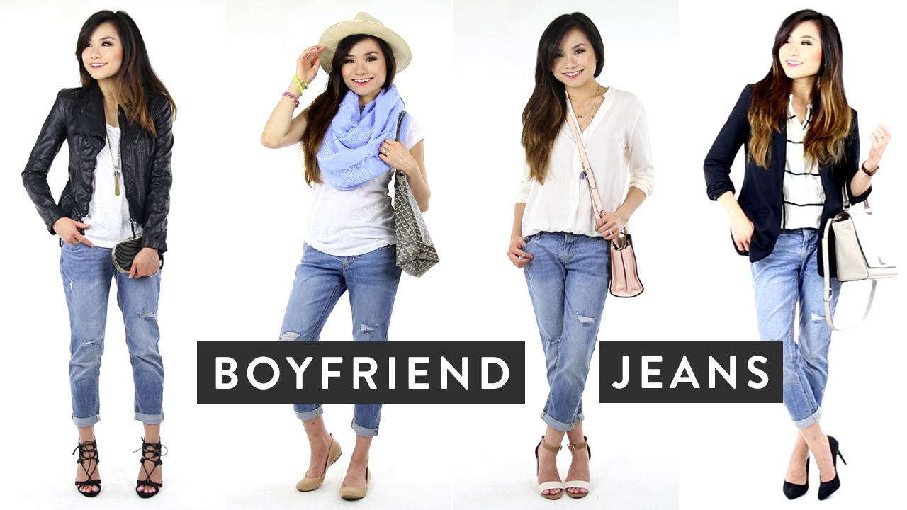 How to Wear Boyfriend Jeans | How to Style Distressed Jeans | Miss ...