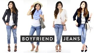 How to Wear Boyfriend Jeans | How to Style Distressed Jeans | Miss Louie