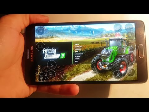 Farming simulator 2017 on Android(samsung galaxy note 4) ep1.sosnovka map