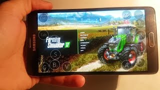 Farming simulator 2017 on Android(samsung galaxy note 4) ep1.sosnovka map