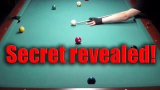 Secret inside spin bank shot to win more matches (very advanced pool billiard tip from the pros)