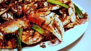 Crabs with Ginger in  Black Beans Sauce: Authentic Chinese / Cantonese Cooking.