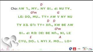 Lisu song lyrics = SV; MY CYU, SI d (GW-. YO YO CHA)