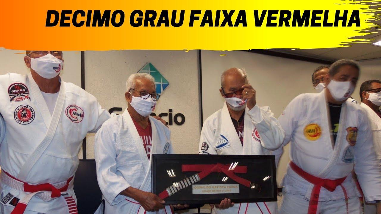 FAIXA VERMELHA DECIMO GRAU