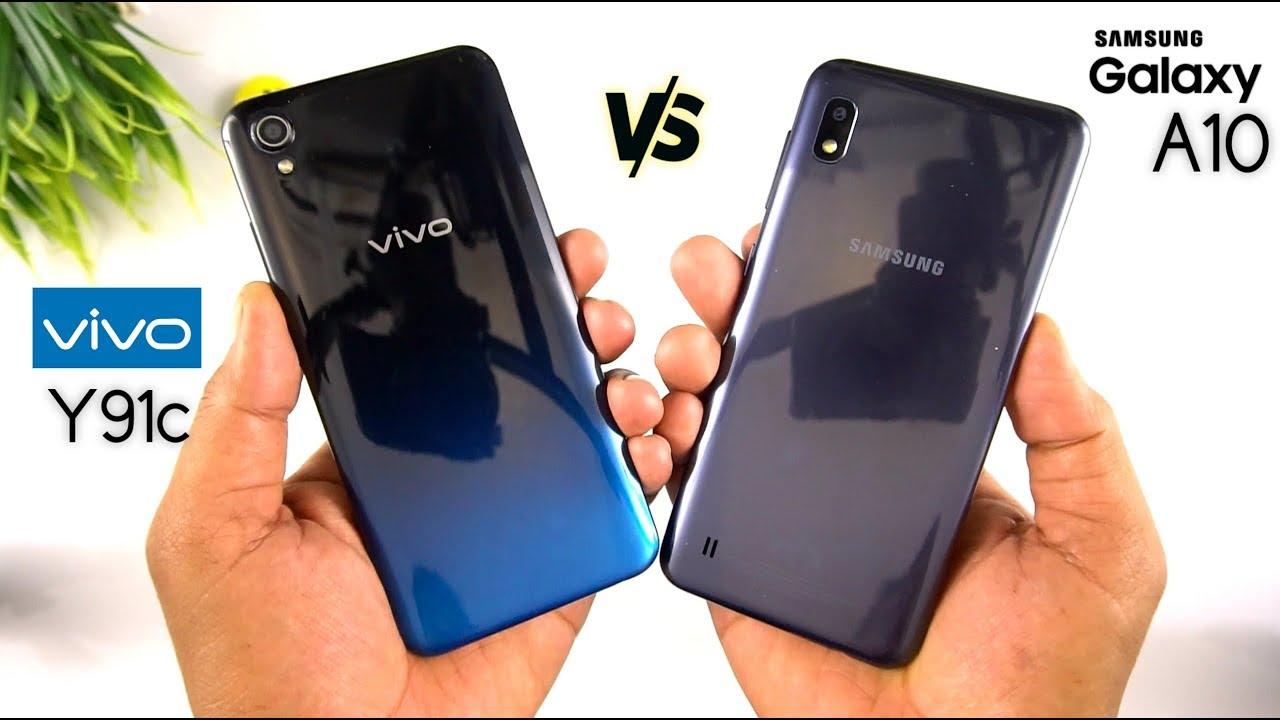Galaxy A10 Vs Vivo Y91c Speed Test Comparison Urdu Hindi Youtube