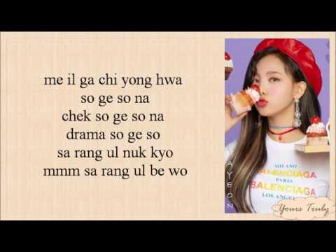 TWICE  What Is Love Easy Lyrics