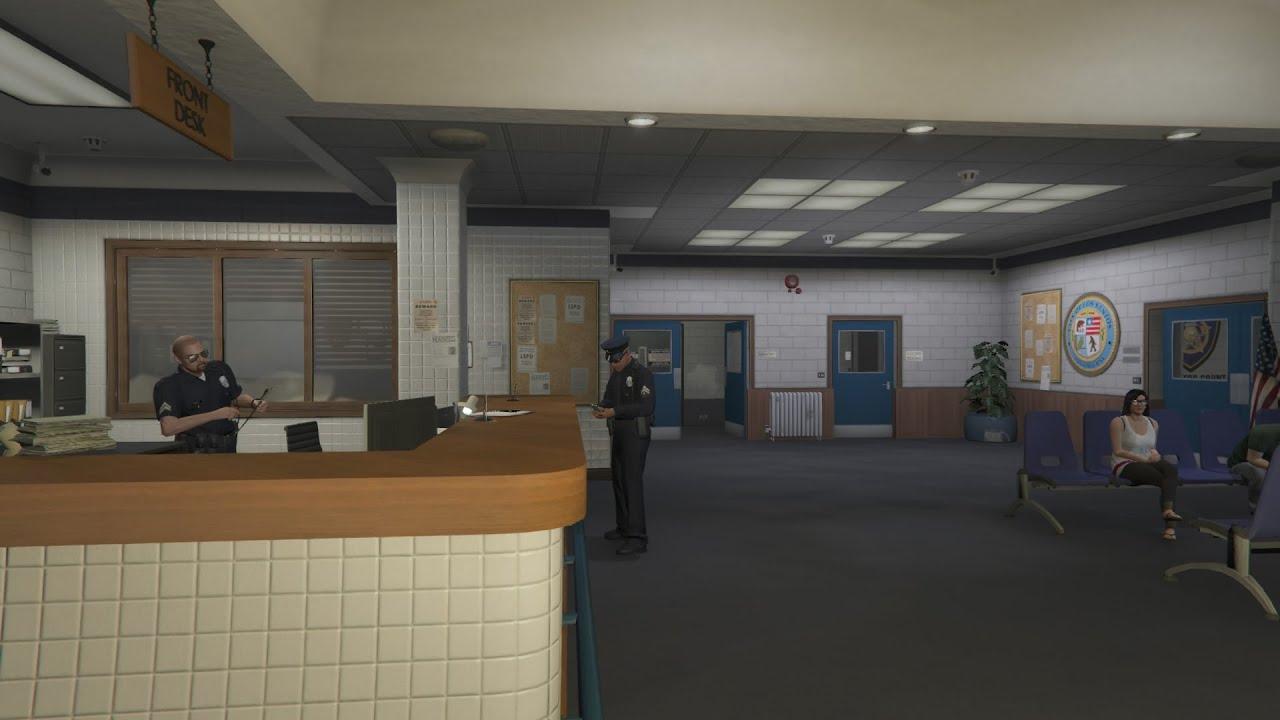 Gta 5 Karte Polizeistation.Gta V Ps4 Police Station Inside Online Polizeistation Von Innen