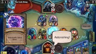 Hearthstone warrior vs the lich king (no epics no legendarys)