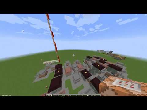 How To Make An Amazing Village With Only One Command Block - Minecraft