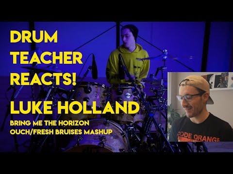 Drum Teacher Reacts To Luke Holland (Bring Me The Horizon Mashup)